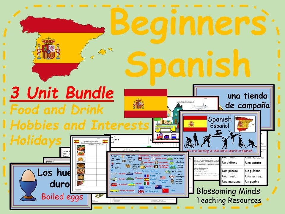 KS2 Beginners Spanish Bundle (Food, Hobbies & Holidays)