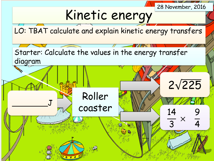 New AQA Physics (Energy unit) - Kinetic energy