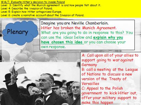 KS3 Invasion of Poland (WW2) Narrative account lesson