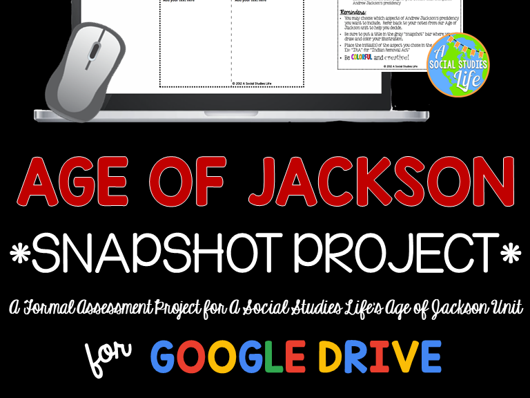 Andrew Jackson Snapshot Foldable Project