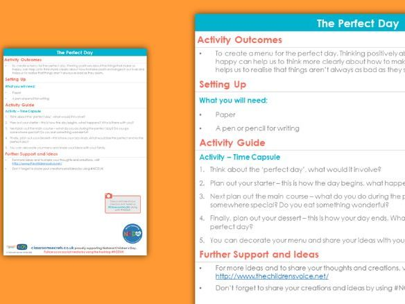 FREE PSHE The Perfect Day Activity National Children's Day