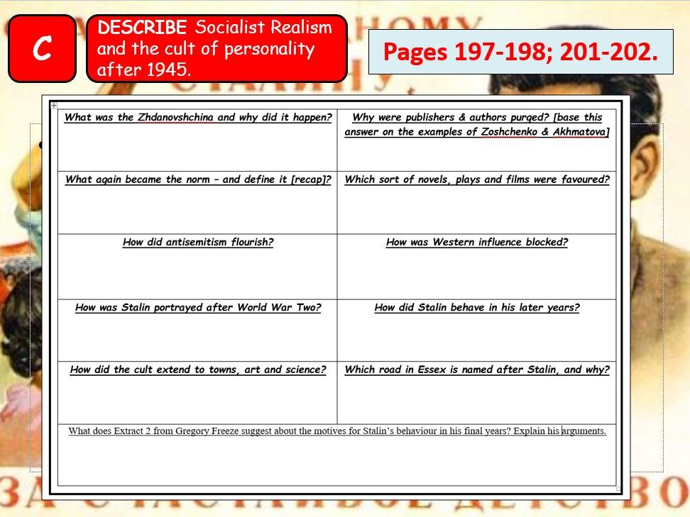 AQA A-Level Tsarist & Communist Russia Lesson 87 (Soviet Culture)