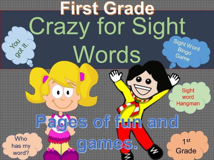 Sight Words Crazy First Grade