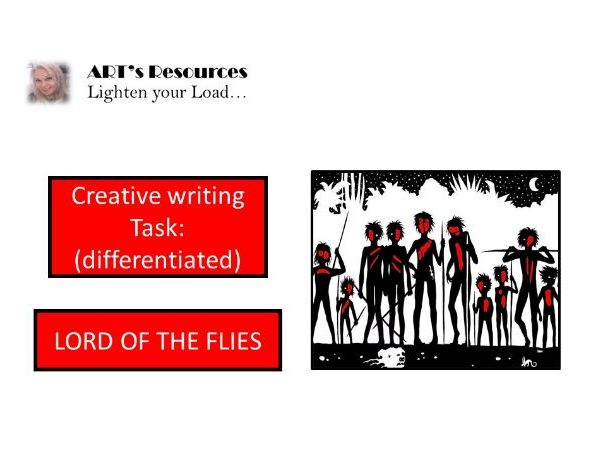 HOME LEARNING - Lord of the Flies - SURVIVAL WRITING TASK (DIFFERENTIATED)