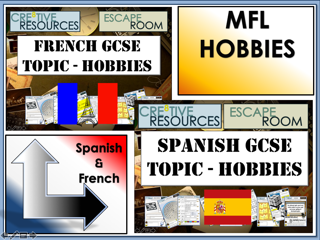 MFL Escape Rooms - GCSE Topic: Hobbies