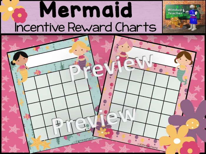 Mermaid Sticker Charts
