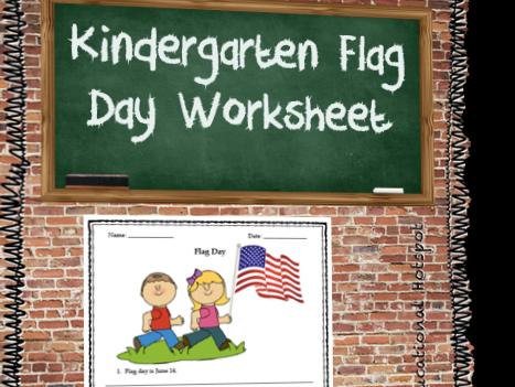 Kindergarten Flag Day Worksheet