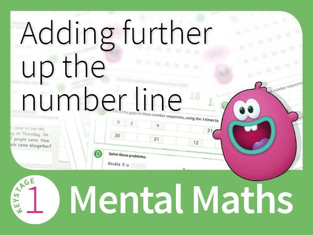 KS1 Number - Adding further up the number line