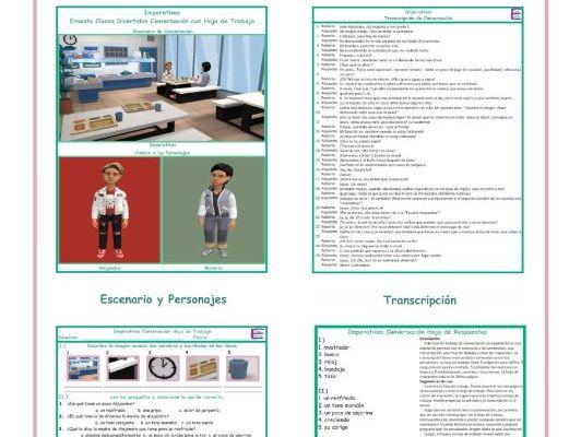 Imperatives Spanish Conversation Worksheet