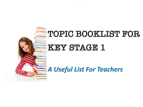 Book List for Key Stage 1 Topics