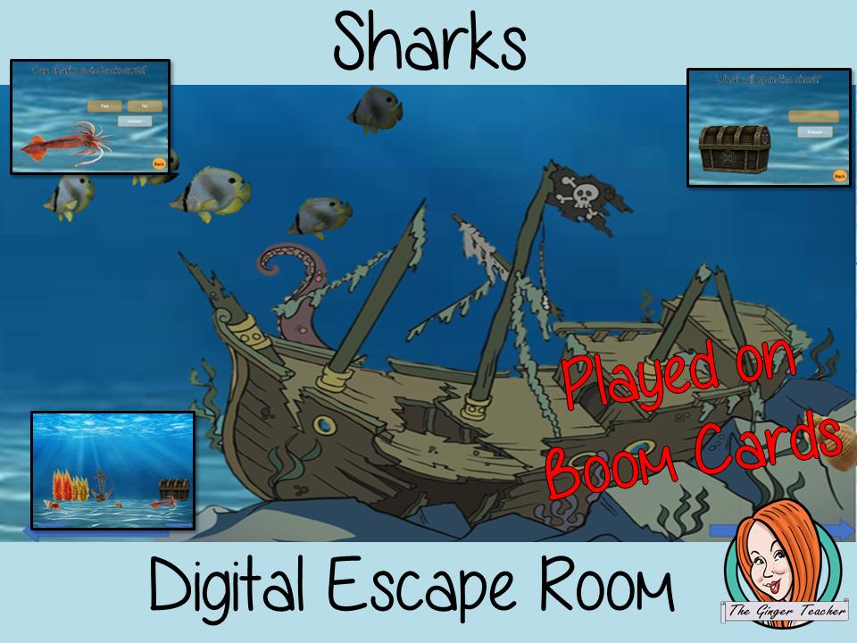 Sharks Escape Room Boom Cards