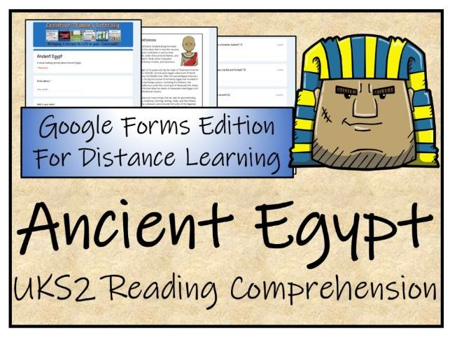 UKS2 Ancient Egypt Reading Comprehension & Distance Learning Activity