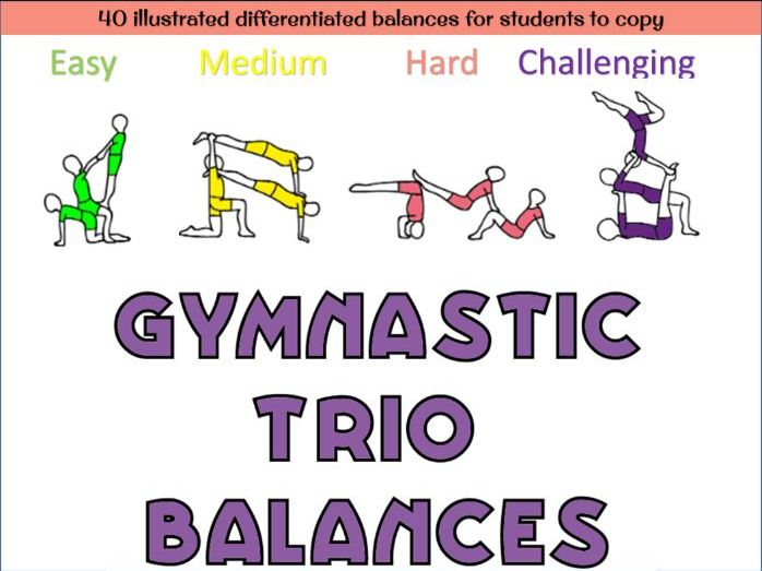 Gymnastics Trio balances