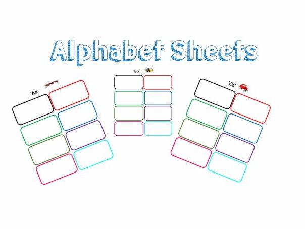 Alphabet Recording Sheets