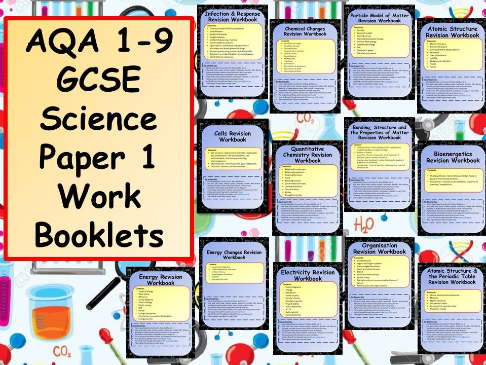 AQA 1-9 GCSE Science Paper 1 Work Booklets Bundle by chalky1234567 | Teaching Resources