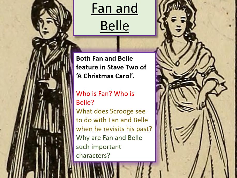 Belle A Christmas Carol.A Christmas Carol Fan And Belle