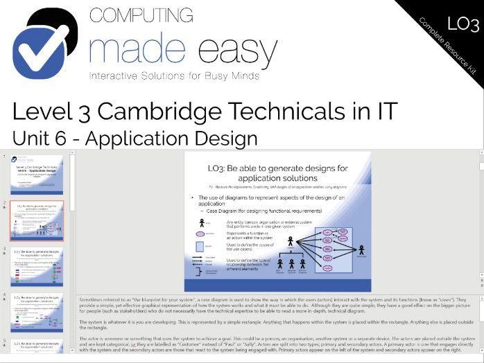 Cambridge Technicals IT Level 3 - Unit 6 LO3 Complete Resource Kit