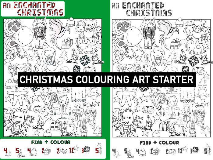 iSPY colouring Enchanted CHRISTMAS | KS 2 & 3 Art