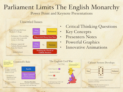 Parliament Limits The English Monarchy Power Point and Keynote Presentations