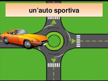 Veicoli (Vehicles in Italian) power point