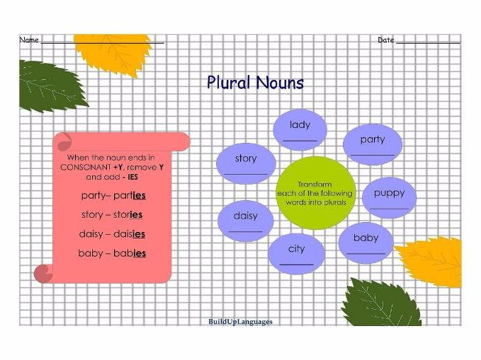 Plural Nouns Practice 2