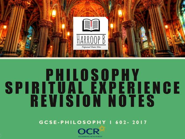 GCSE Philosophy Spiritural Experience Revision Notes - OCR B