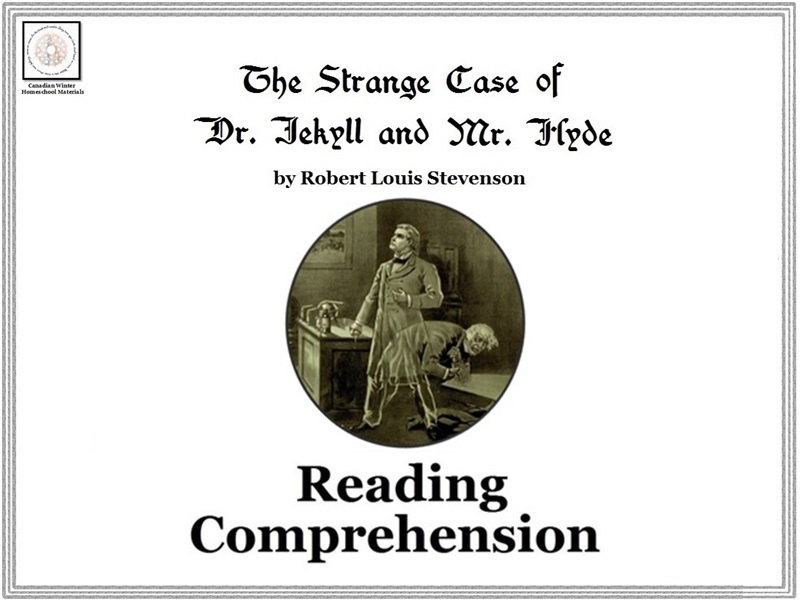'The Strange Case of Dr. Jekyll and Mr. Hyde' Reading Comprehension Sheets