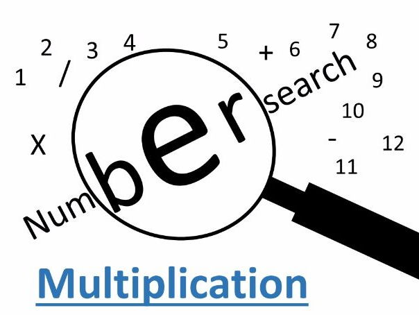 Multiplication wordsearch 5X tables