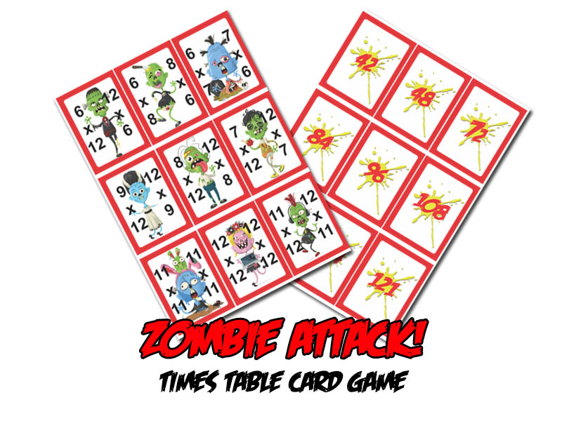 Zombie Attack! Times-Table Card Game