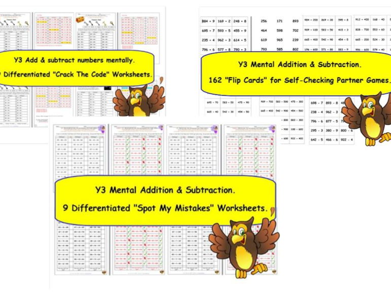 Y3 Addition & Subtraction Bargain Bundle