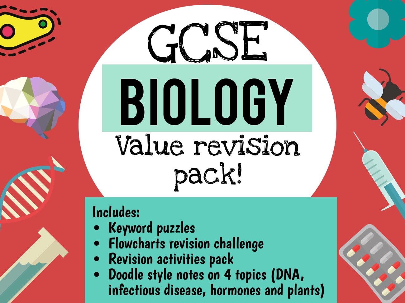 Mixed Biology GCSE revision pack