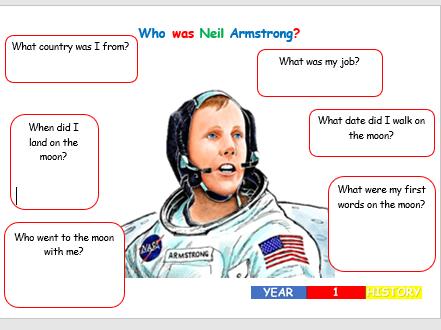KS1 History - Neil Armstrong Worksheet