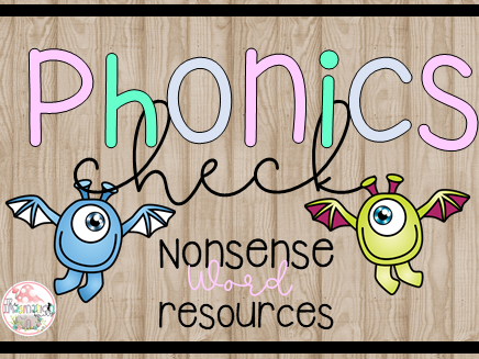 KS1 Year 1 Phonics Check Nonsense Alien Words