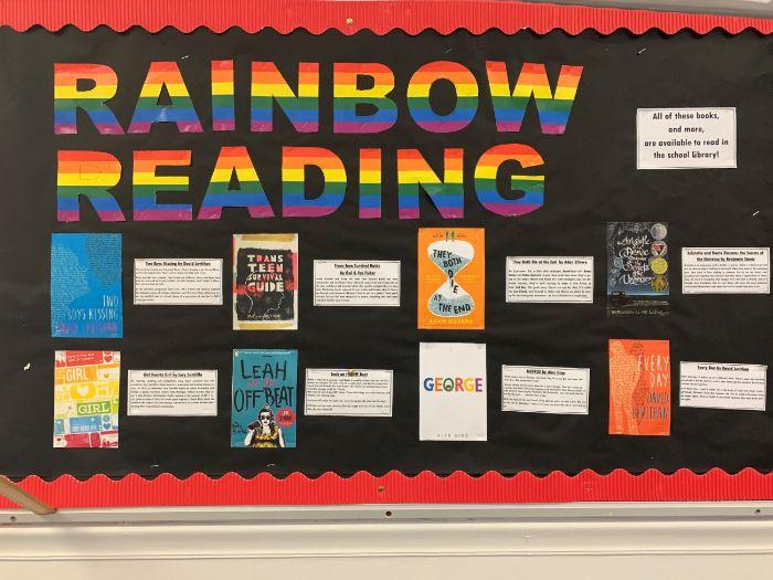 LGBT YA Book Display