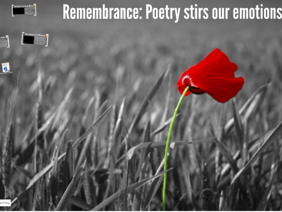 Remembrance: Poetry stirs our emotions