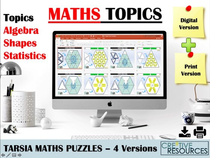 Digital  and Print Maths Puzzles