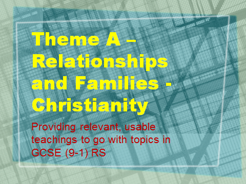 GCSE (9-1) Religious Studies Spec A - Theme A (Relationships) Teachings - Christianity