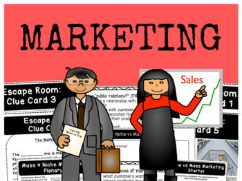 The Marketing Mix, The 4 p's, and Mass and Niche Marketing - Full Bundle