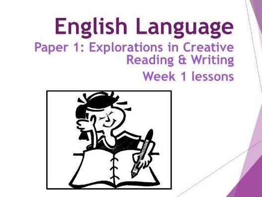 AQA Language Paper 1: Week 1 Lessons - Qus 1 & 2