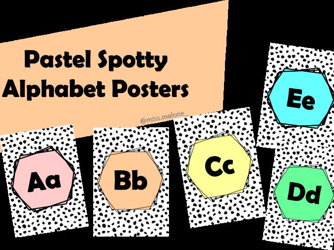 Pastel Spotty Alphabet Posters