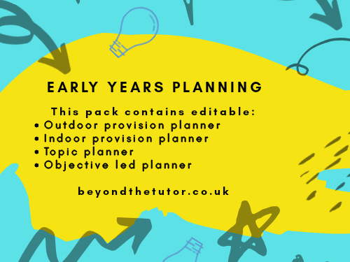 Early Years Continuous Provision Planning Pack