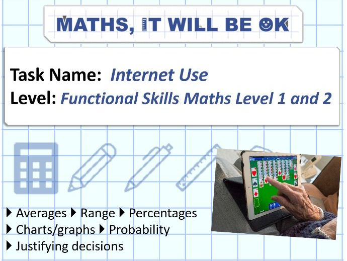 FS Maths Level 2 -Statistics - Internet Use - Exam Style