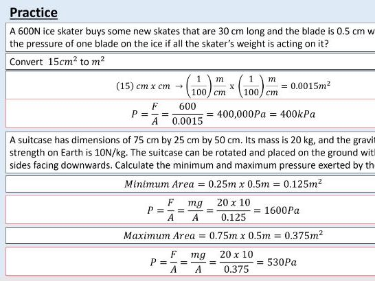 GCSE Physics (4.5.5.1.1) Forces - Pressure in a fluid 1 (AQA)