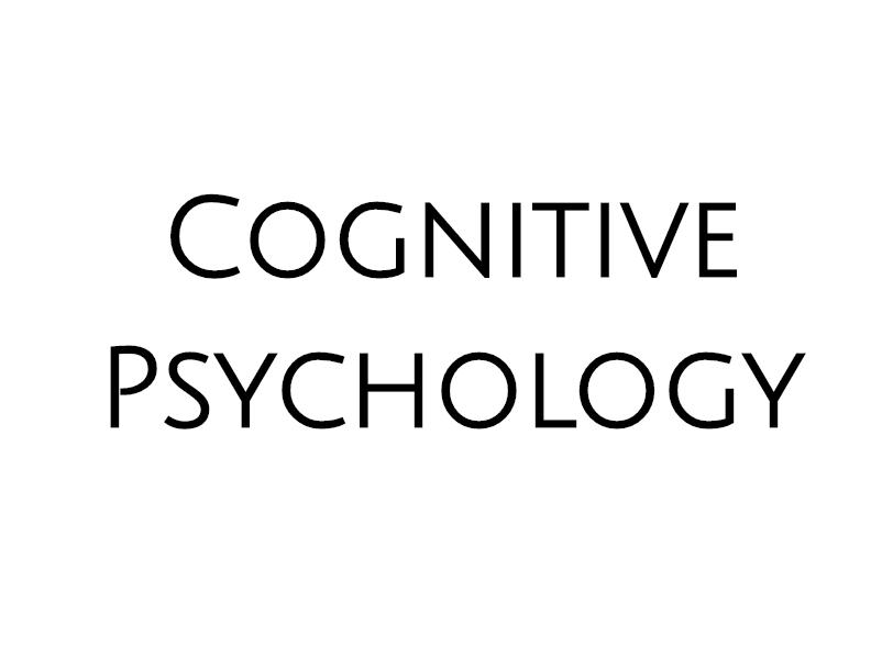 WJEC A LEVEL PSYCHOLOGY Cognitive Approach
