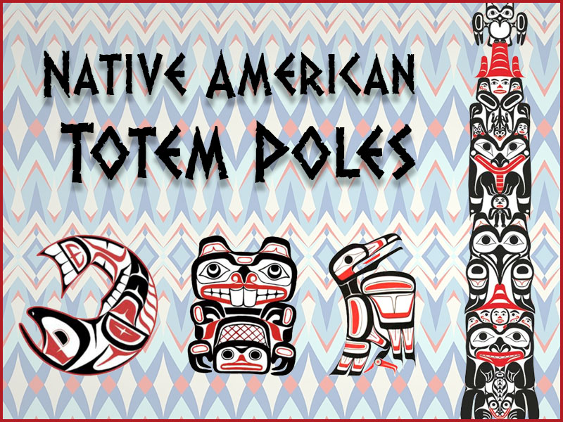 Native American Totem Poles with Drawing Activity