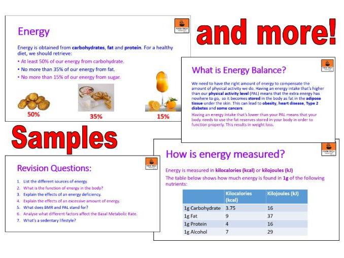 KS3 and KS4 Energy Needs