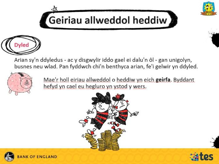 Lesson 11 Money and me - What is debt? (Welsh curriculum & language)
