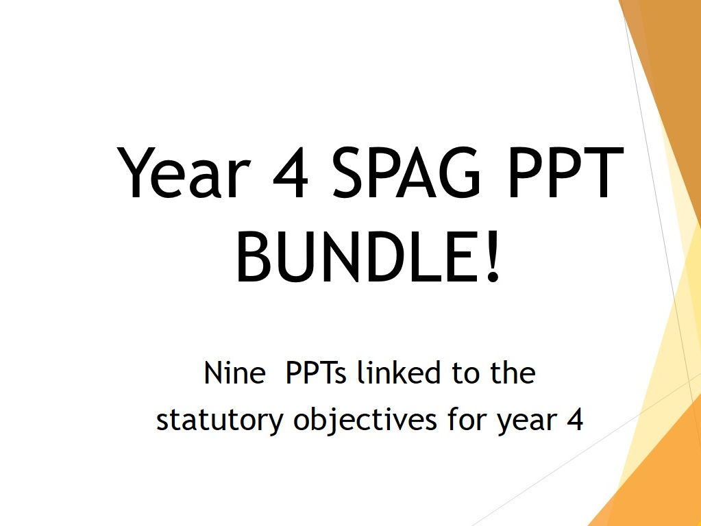 Year 4 SPAG Bundle