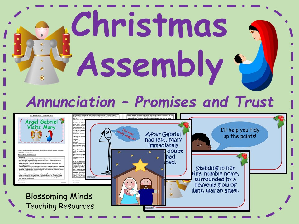 Christmas assembly - The Annunciation (trust and promises theme)