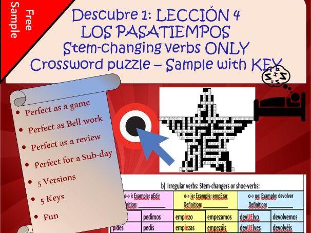 Stem-changing verbs:  Free sample